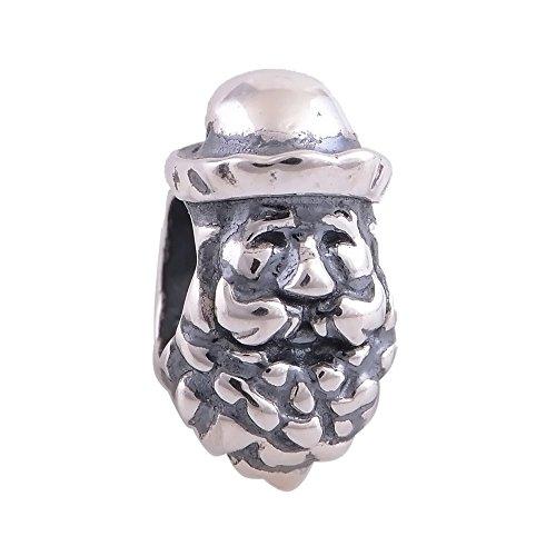 Christmas Santa Claus 925 Sterling Silver Charm Beads Fits Pandora Charm Bracelete