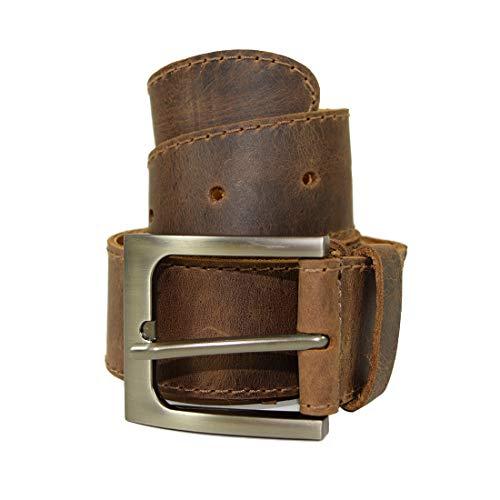 Hide & Drink, Slim Leather Stitched 1.5 in. Rustic Belt w/Sheepskin, Handmade Includes 101 Year Warranty :: Brown Tangerine (Size 34)