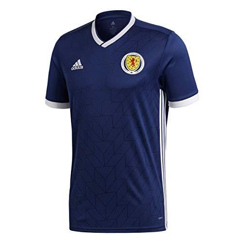 adidas Herren Schottland Heimtrikot, Dark Blue/White, L