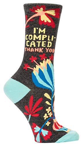 Blue Q Damen Socken - Statement Socken - I'm Complicated Gr. 37-42
