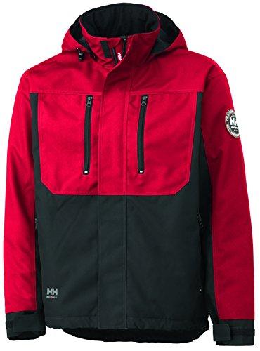 Helly Hansen 34-076201 Workwear Funktionsjacke/Berg Jacket Winterjacke,rot/schwarz,M
