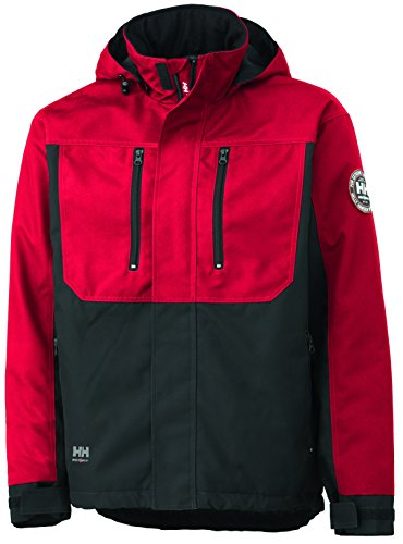 Helly Hansen 34-076201 Workwear Funktionsjacke/Berg Jacket Winterjacke,rot/schwarz,XL