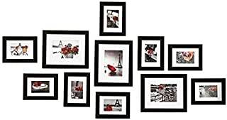 Muzilife 11 pcs Collage Picture Frame 3pcs 8x10, 8pcs 5x7 Display Photograph and Wall Décor Photo Frames for Gallery Dinin...