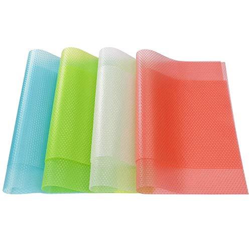 Voarge 8 alfombrillas multifunción para frigorífico, eliminan la humedad y los olores, antideslizantes, lavables y se pueden cortar a medida (30 cm x 45 cm)