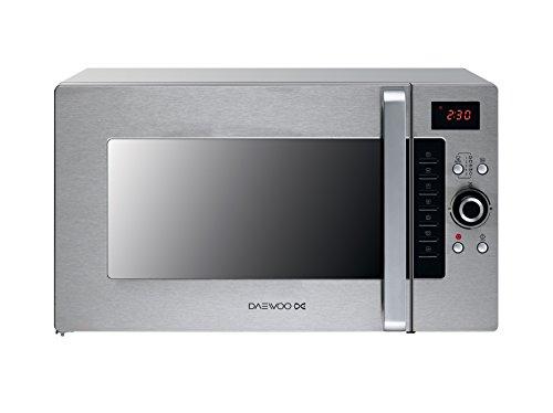 Daewoo KOC9Q4T Mikrowelle, 28 l, 900 W, Edelstahl, 28 l, 900 W, Tasten, drehbar, Edelstahl, 1.300 W