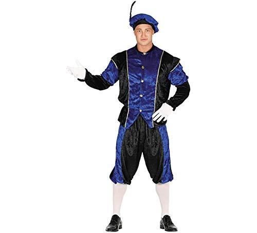 Guirca Disfraz de PAJE Azul y Negro para Hombre