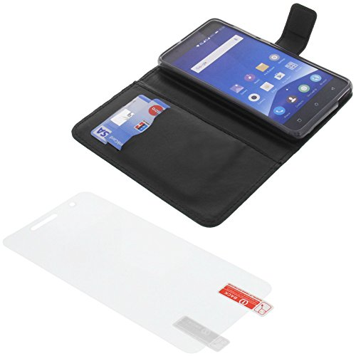 Tasche für Mobistel Cynus F10 Book Style schwarz Schutz Hülle Buch + Schutzfolie