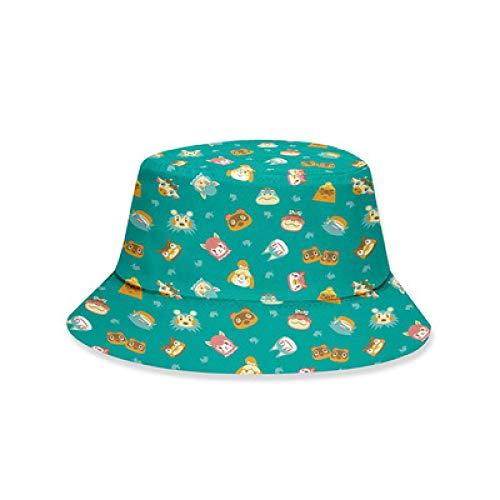 xunlei Sombrero Invierno Anime Sombrero De Pescador Impreso Digital 3D De Animal Friends Sombrero De Pescador Japonés Estudiantes De Verano Protector Solar Sol.