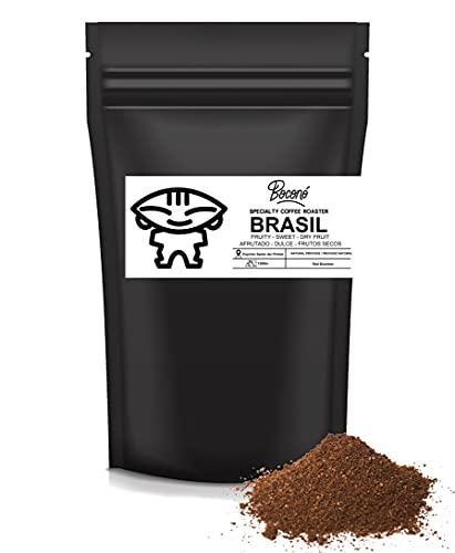 Boconó Specialty Coffee Brasil Molido Medio-Grueso Café De Especialidad 350g 100% Arabica Proceso Natural Tueste Artesano V60 Aeropress Prensa Francesa Kalita Trazabilidad completa