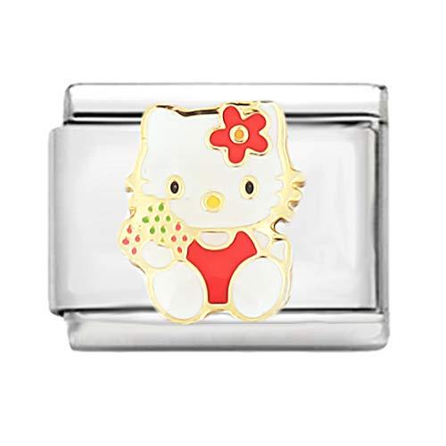 AKKi jewelry Italian Charms Armband Classic glieder Italy Charm,Silber Gold Edelstahl Links Kult modele Blume Tiere Herz für Katze