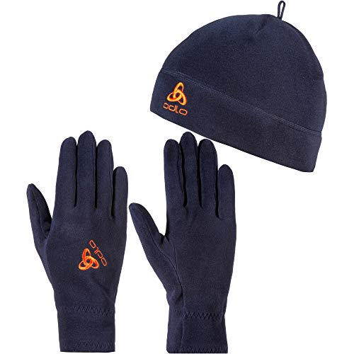 Odlo Microfleece Set Mütze und Handschuhe blau XS