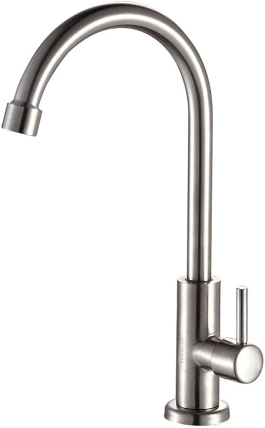360° redating Faucet Retro Faucetbrushed Nickel Kitchen Faucet Single Cold Tap Kitchen Sink Faucet