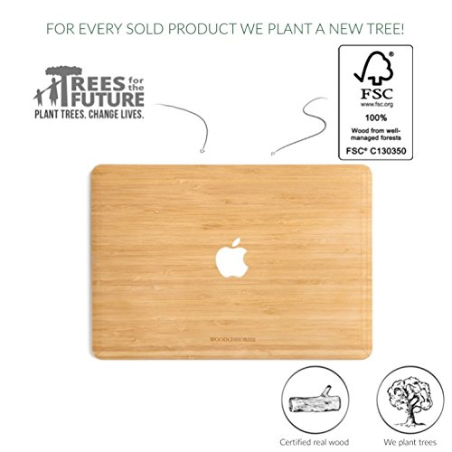 Woodcessories - Skin kompatibel mit MacBook 11 Air aus Holz - EcoSkin (Bambus)
