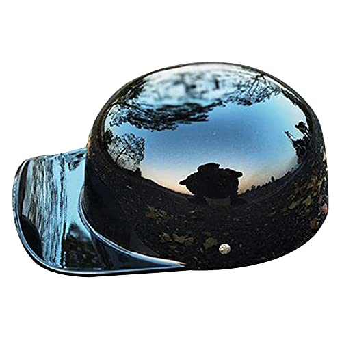 ZHAORU Cascos de Moto de Cara Abierta para Adultos, Medio Casco Retro para Hombres y Mujeres, Gorra de béisbol con Personalidad certificada por Dot, Adecuada para Cruiser Scooter Skull Hat 54-62CM