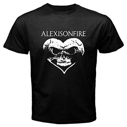 New Alexisonfire Heart Skull Logo Hardcore Band Men's Black T-Shirt Size S-3Xl