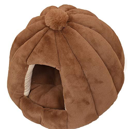 MOGU(JP)ハウス 猫 寝袋 冬用 ペット用寝袋 ペット用品 多機能 ベッド マット 兼用 保温防寒 快適 柔らかい 人気 可愛い ふわふわ 暖かい ソフト 冬寒さ対策 洗える 滑り止め 小型犬 6色展開 ホワイト ピンク ブラウン 56*48CM