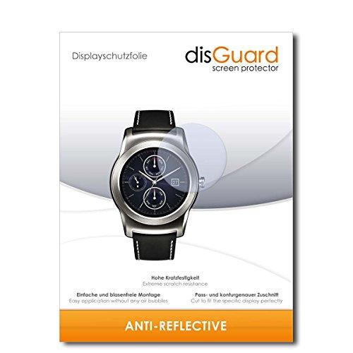 disGuard Displayschutzfolie für LG Watch Urbane LTE 2nd Edition [3 Stück] Anti-Reflex, MATT, Entspiegelnd, Extrem Kratzfest, Anti-Fingerabdruck - Displayschutz, Schutzfolie, Panzerfolie