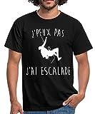 J'Peux Pas J'Ai Escalade T-Shirt Homme, L, Noir