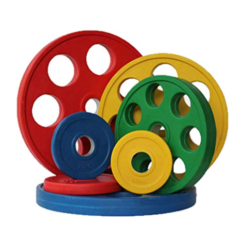 Chase Fitness 7 Hole Rubber Weight Plates 1.25-25kg For 2' Olympic Bars (2.5kg x 4)