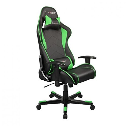 DXRacer OH/FE08/NE DX Racer, F-Serie, Formular Serie, Bürostuhl, Drehstuhl, Kunstleder schwarz-grün, das Original