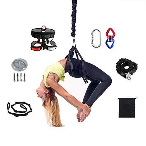 Why Choose XIONGGG Aerial Yoga Stretch Band Inversion Sling for Flying Antigravity, with A Carrying ...