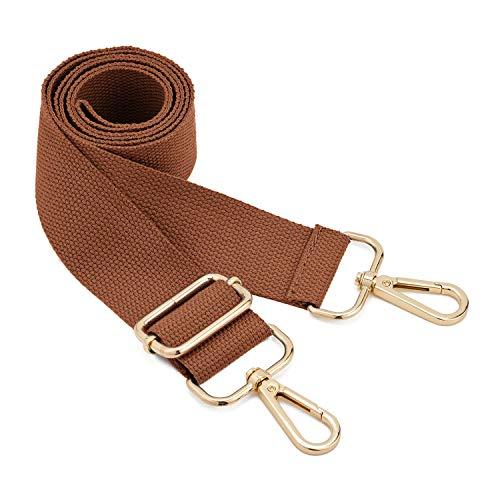 DEVPSISRWide Shoulder Strap Replacement Adjustable Belt Canvas Bag Crossbody Handbag (coffee)