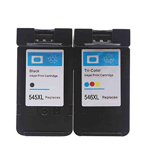 Kit de 2 cartuchos compatibles para Canon PG-545 XL + CL-546 XL negro + color impresora PIXMA MG2550 2555 TS3151