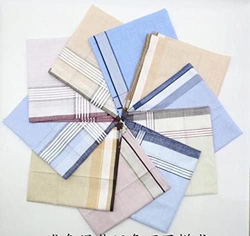 SushiSwap 5pcs -10pcs Cotton Plaid Handkerchief Men Striped Towels Wedding Luxorious Handkerchief for Mens Pocket Square Mendil Zakdoek - 5PCS - 115597