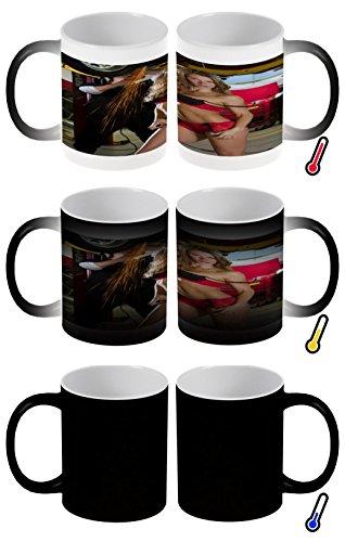 LEotiE SINCE 2004 Zaubertasse Farbwechseltasse Kaffeebecher Tasse Becher Latte Cappuccino Espresso Pin Up Erotik Werkstatt Fee