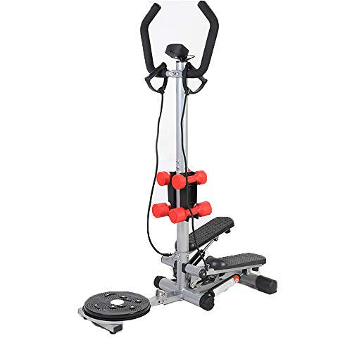 Best Prices! DELGC Stepper with Armrests Home Mute Weight Loss Climbing Stepper Weight Loss Multifun...