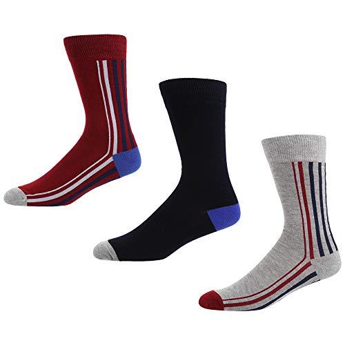 Ben Sherman Herren Cool Dawn Socken, Mehrfarbig (Red/Navy/Grey 3PKA), 7/10/2019 (Herstellergröße: 7-11) (3er Pack)
