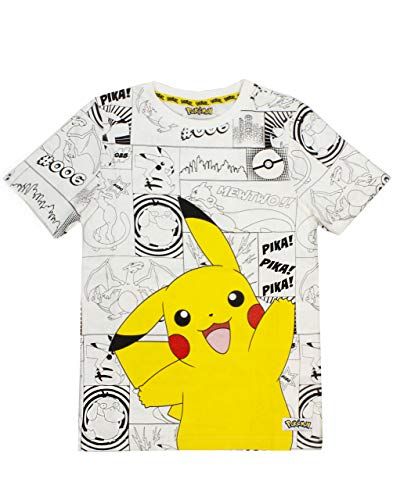 Pokemon Panels Boy's T-Shirt (7-8 Years)