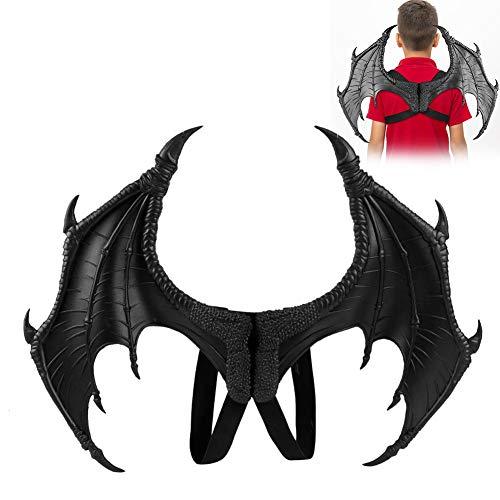 Alas de Dragón, disfraz de dragón, disfraz de Halloween para cosplay, alas de Mardi, accesorio decorativo para Halloween, carnaval, fiesta, Negro, Talla única