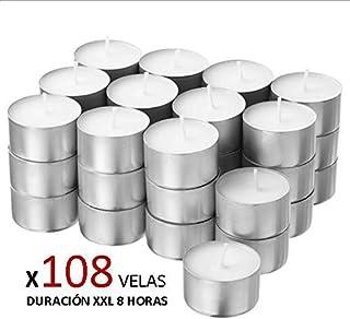 Cia&Co Pack 108 Velas de té XXL Larga Duración 8 Horas