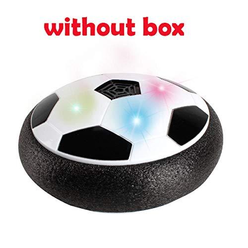 PUJING 28CM Air Power Fußball-Scheibe schwebende gleitende Kugel schwimmende LED blinkende Fußballspielzeug Kinder Geschenk-Without Box Balck