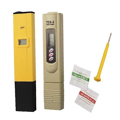 Packung Mit 2 PH TDS Tester Tragbare Digital-Meter-Professionelle Wasser-Aquarium-Monitor Mini Wasserqualität Tester