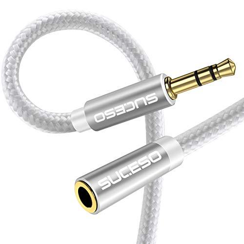 SUCESO Cable Audio Alargador Extensión 3.5mm Macho a Hembra Cable Alargador Jack...