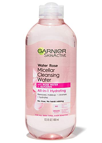 Price comparison product image Garnier SkinActive Micellar Cleansing Water with Rose Water and Glycerin,  All-in-1 Hydrating,  For Normal to Dry Skin,  13.5 Fl Oz