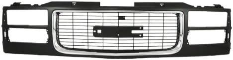 CarPartsDepot Front Composite Type Max 64% OFF Black Plastic Body Quantity limited Gr Grille