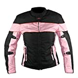 Best Xelement Armored Motorcycle Jackets - Xelement CF462 Women's' Pinky' Black and Pink Tri-Tex Review