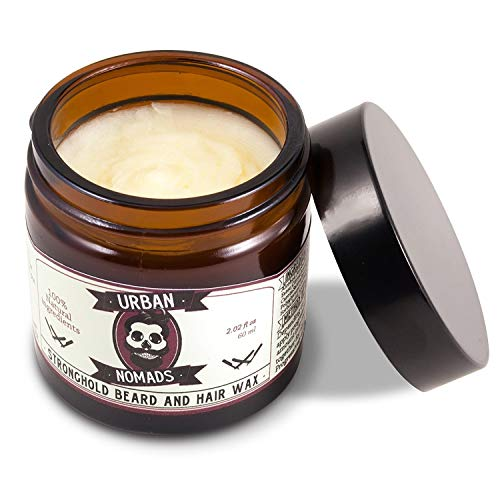 Urban Nomads Best Beard Balm & Wax, Strong Hold, Leave in Conditioner & Styling Balm for All Beard Styles, Carotenes, Sesame Seed Oils, Bergamot and Citric Fruit Oils, Made in Barcelona, 2 oz