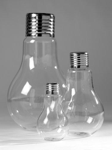 Serax - Vase/Blumenvase - Edison - Large - Glas - Chrom - Höhe 24 cm