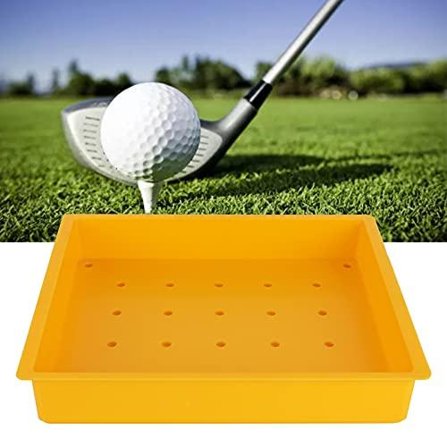 Nunafey Recipiente para Pelotas de Golf, Caja para Bolas de conducción de Golf Artesanía Fina Recipiente para Pelotas de Golf ABS Bandeja de Golf de plástico ABS antienvejecimiento para Exteriores