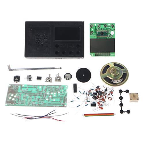 FATTERYU DIY LCD FM Radio Kit Electrónico Educativo Suite de Aprendizaje Rango de...