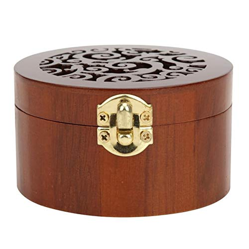 ZAJ Retro Style Musical Boxes Round Shape Music Box Beautiful Hollow Out Musical Jewelry Box Home Ornament Gift Birthday 1pcs (Color : A)