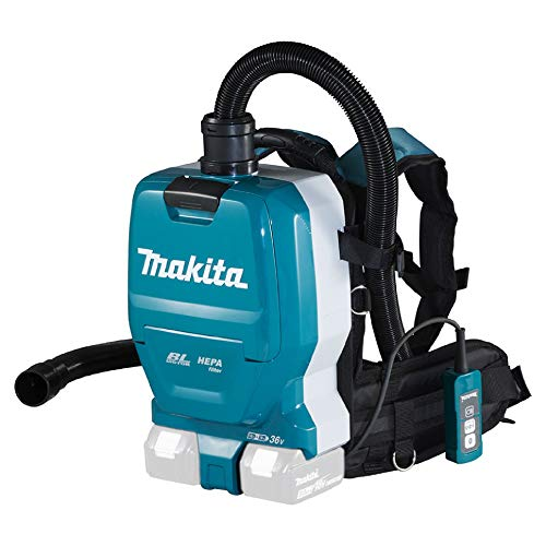 Makita DVC261ZX15, Battery-Powered Backpack Vacuum Cleaner 2x18V, Colour, Size