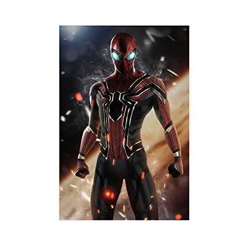 Póster de Superhéroe Spider Man Tom Holland de la película 010 Póster de lona para decoración de dormitorio, paisaje, oficina, habitación, decoración de regalo, 30 x 45 cm