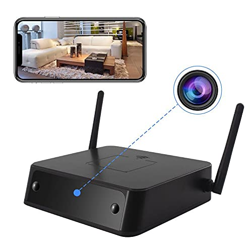 Spy Camera Wireless Hidden 365 Days Standby True 1080p WiFi Smart Cam Indoor Nanny Camera with PIR Motion Detection Night Vision Battery Powered