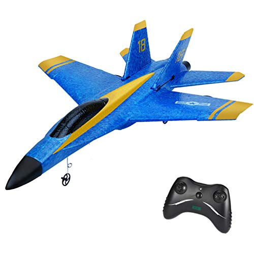 iHobby RC Plane, 2.4Ghz 2 Channel Remote Control Airplane Ready to Fly, RC Airplane Built in 3-Axis Gyro, Easy to Fly Remote Control Plane for Kids Boys Adult Beginner