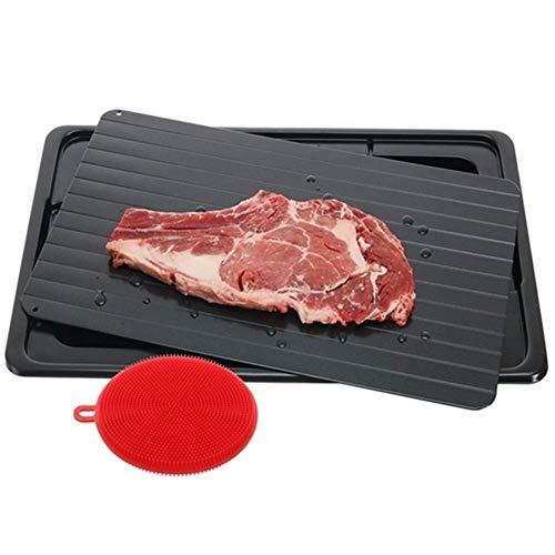 Fleischklopfer Tool For schnelle Schneller schneller Fleisch Abtauen, Huhn, The Safest Kein Strom, keine Mikrowelle Abtauwanne Frozen Food Thawing Platte (Farbe : Black, Size : 35.5x20.5x0.2cm)
